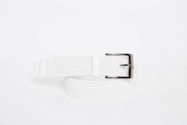 Cintura Treccia elastica Bianco