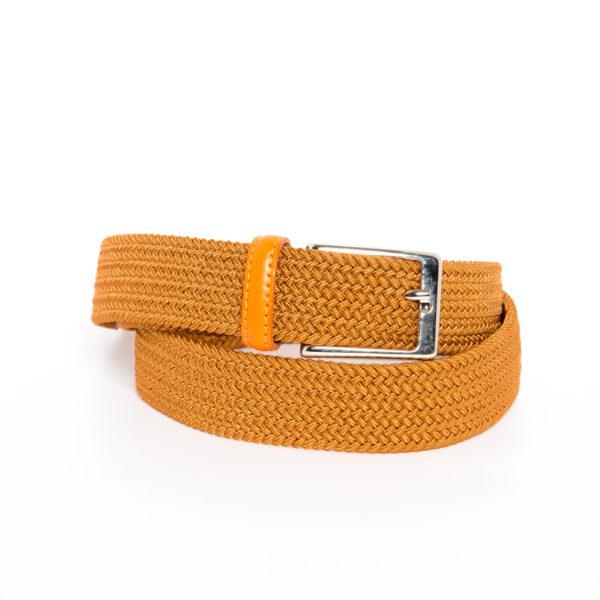 Cintura Treccia elastica Arancia