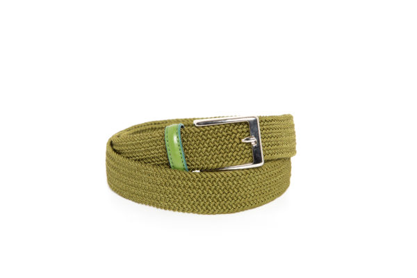 Cintura Treccia elastica Verde