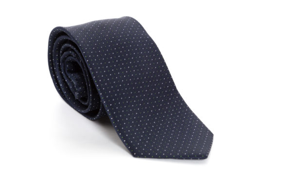 Cravatta Blu Pois